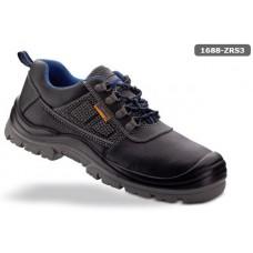 LUCENTUM S3 черна кожа обувка с двойна плътност полиуретанова подметка