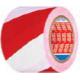 Маркираща самозалепваща лента - бяло/червена