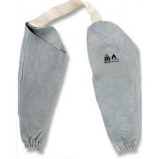 Защитни термо ръкавели от говежда кожа за заварчици с ластик